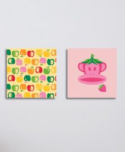 Wall Pictures Set Fruits Fun - Paul Frank