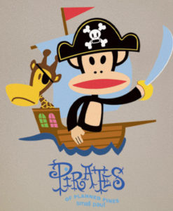 Julius The Pirate Wall Decal - Paul Frank