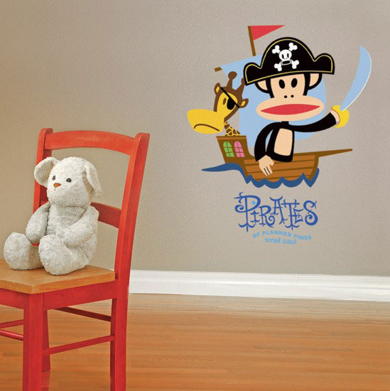 Charming Wall Decal Julius The Pirate   Paul Frank