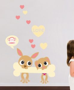 Wall Decal Love Is In The Air - Paul Frank