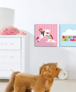 Wall Pictures Set Magic Rainbows - Paul Frank