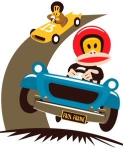 Wall Decal Race Car - Paul Frank