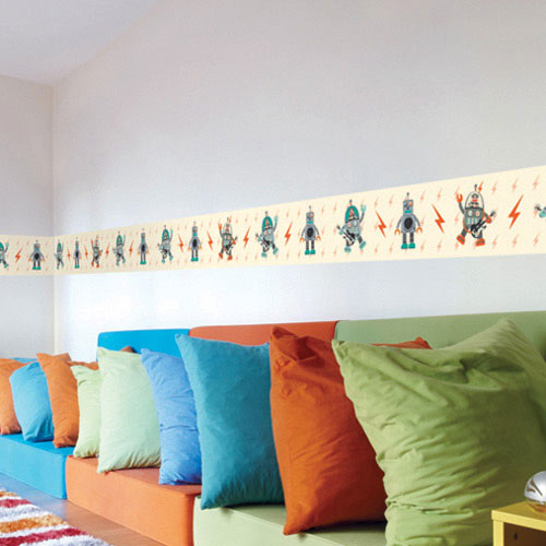 Comkids Room Borders : Design Kids Rooms With Robot Wall Stickers - CoolWallArt