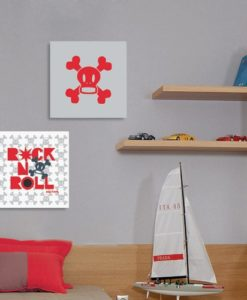 Wall Pictures Set  Rock n' Roll - Paul Frank