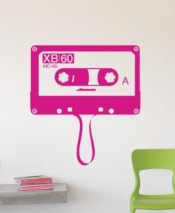 Retro Cassette Wall Decal
