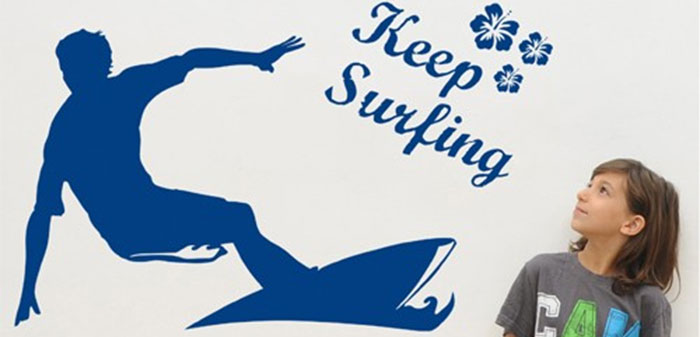 surf art wall stickers