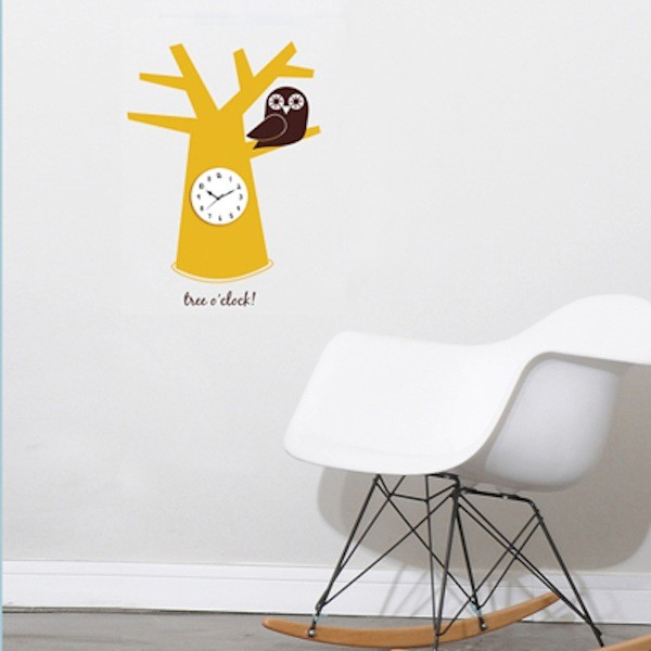 Wall decal Tree clock