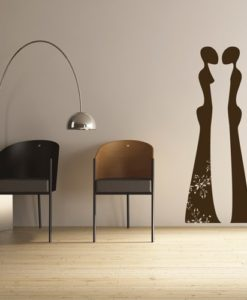 Wall Decal African Figures Brown