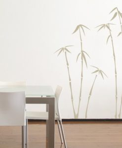 wall decal bamboo beige