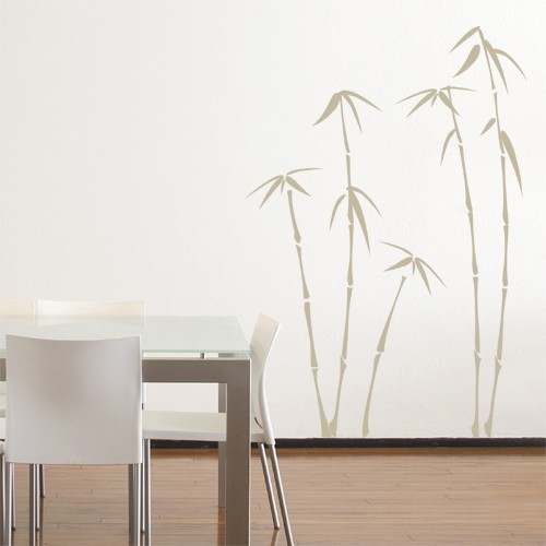 Awesome Wall Decal Bamboo Beige