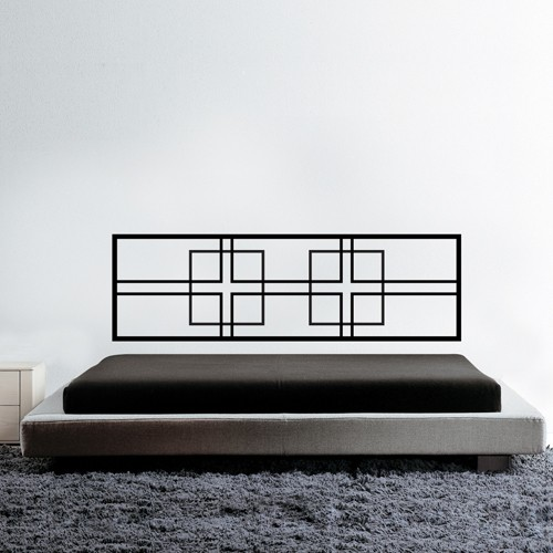 Bed Headboard Wall Decal