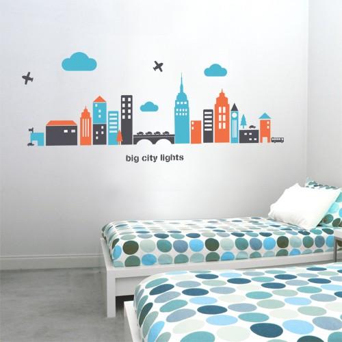 Big City Lights Wall Decal Vinyl Wall Decals Make CoolWallArt - Wall decals city