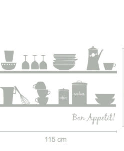 wall decal bon appetit dimensions