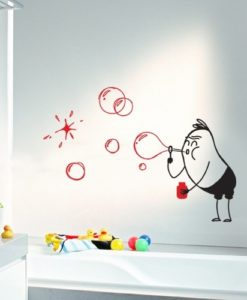 Wall Decal Bubbles Wally
