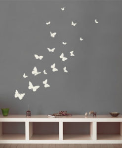 kids wall decal butterflies white 4M4206