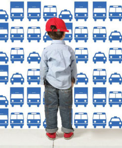 Wall Decal Cars Pattern