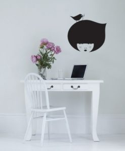 Wall Decal Chalkboard Face