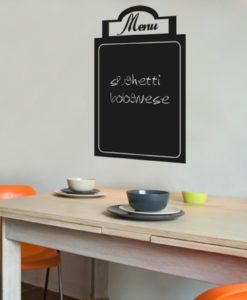 Wall Decal Menu Chalkboard