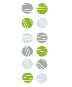 wall stickers circles green grey & light-grey
