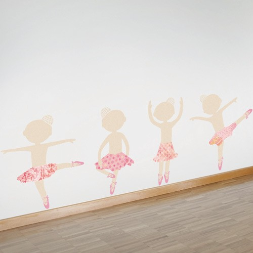Wall decal Dancers with skirts