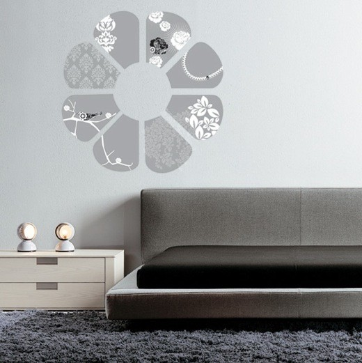 Inspirational wall decal elegant flower