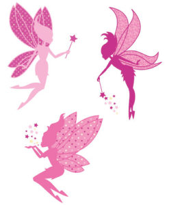 Wall Decal Magic Fairies Pink