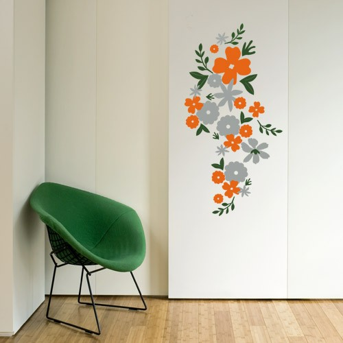Floral Design Wall Decals : Floral wall decal flowers stickers make