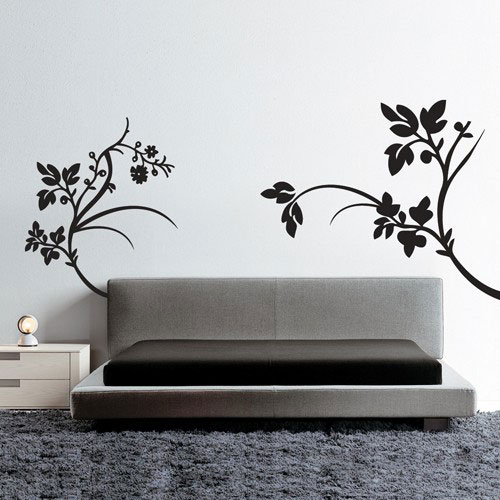 Wall Decal Flowers Composition Floral Wall Stickers - Wall stickers decals