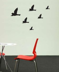 Flying Birds Wall Decal Black