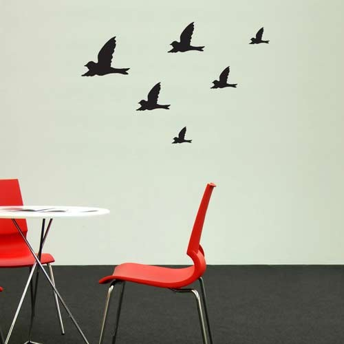 Wall Decal Flying Birds Vinyl Wall Decals - Wall decals birds