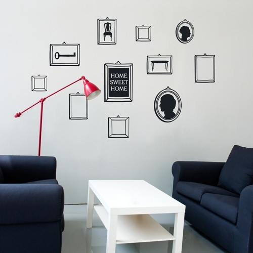 Wall Decal Frames Black