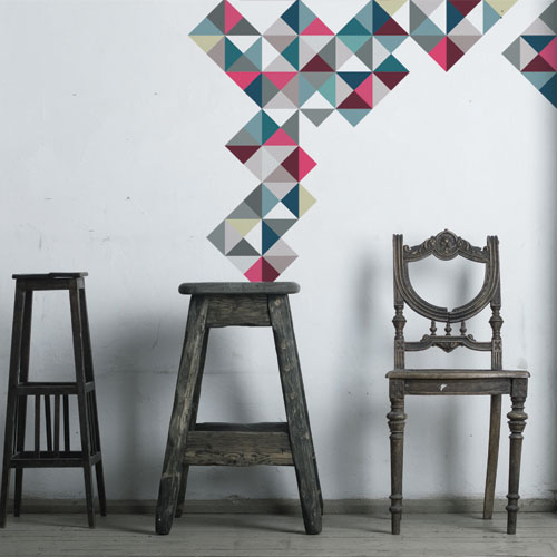 Wall Decal Funky Geometry
