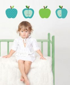 Wall Decal Green Apples