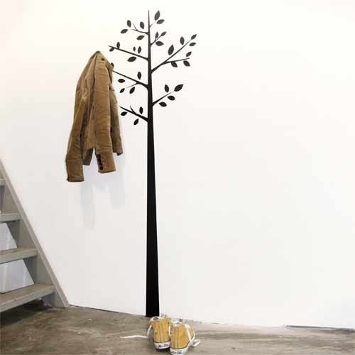 clothes hanger tree wall decal 1