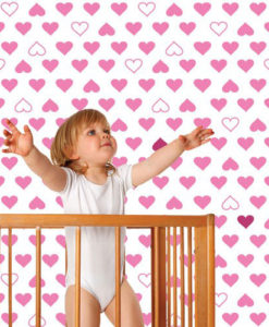 Wall Decal Hearts Pattern