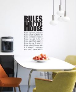 Wall Decal House Rules