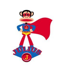 wall decal julius superhero paul frank