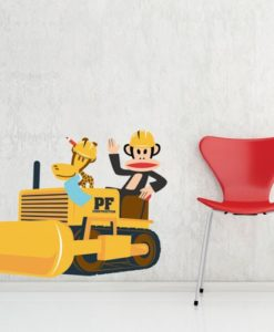 Wall Decal Julius the Builder - Paul Frank