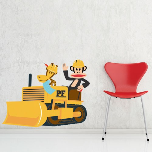 Wall decal julius the builder paul frank