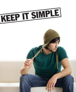 Wall Decal Keep it Simple