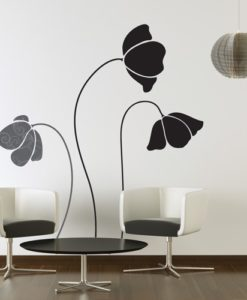 Wall Decal Large Flowers