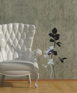 Wall Decal Minimal Flower