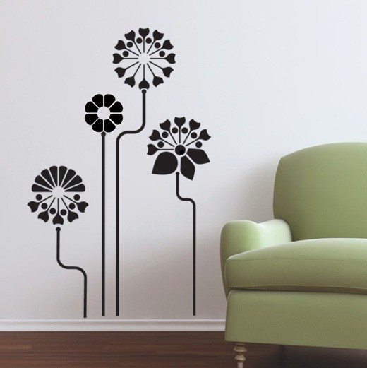 Beau Wall Decal Modern Garden