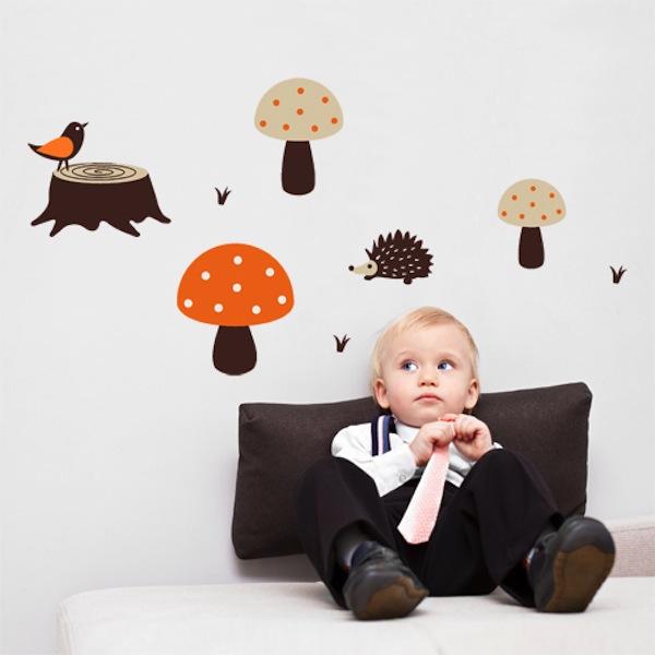 Wall Decal Mushrooms