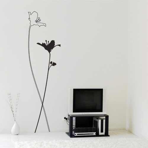 Wall Decal Nature Eden Flowers Vinyl Wall Decals CoolWallArt - Wall decals nature and plants