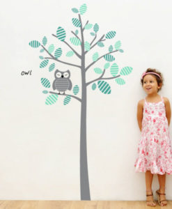 Wall Decal Owl and Tree