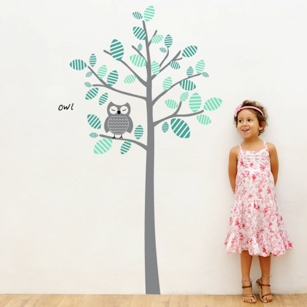 Awesome Wall Decal Owl And Tree