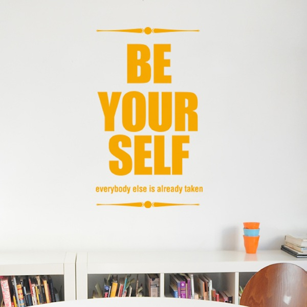 Wall Decal Be Your Self