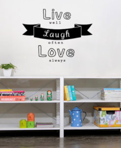 Wall Decal Live,Laugh,Love