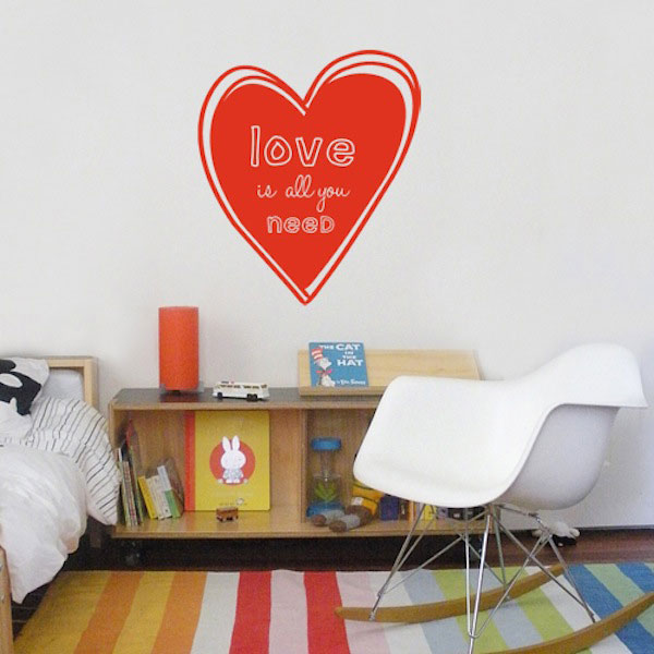 Wall Decal Love is all you Need